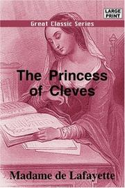 THE PRINCESS OF CLEVES by Madame de Lafayette