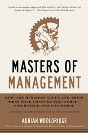 MASTERS OF MANAGEMENT by Adrian Wooldridge