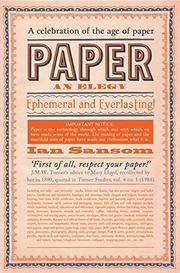PAPER by Ian Sansom