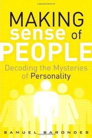 MAKING SENSE OF PEOPLE by Samuel Barondes