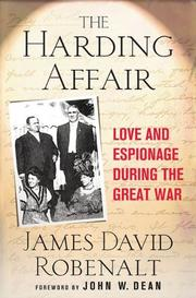 THE HARDING AFFAIR by James Robenalt