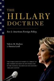 THE HILLARY DOCTRINE by Valerie M. Hudson
