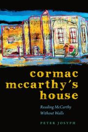 Cover art for CORMAC MCCARTHY'S HOUSE