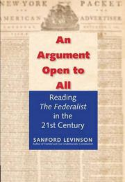 AN ARGUMENT OPEN TO ALL by Sanford Levinson