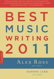 BEST MUSIC WRITING 2011 by Alex Ross