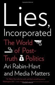 LIES, INCORPORATED by Ari Rabin-Havt
