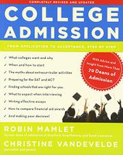 COLLEGE ADMISSION by Robin Mamlet