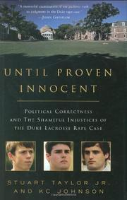 UNTIL PROVEN INNOCENT by Jr. Taylor