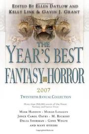 Cover art for THE YEARS BEST FANTASY AND HORROR 2007