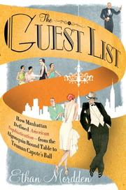 THE GUEST LIST by Ethan Mordden