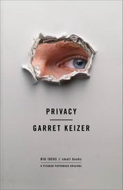 Cover art for PRIVACY