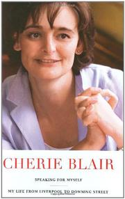 SPEAKING FOR MYSELF by Cherie Blair