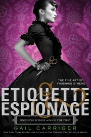 Book Cover for ETIQUETTE & ESPIONAGE