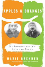 APPLES & ORANGES by Marie Brenner