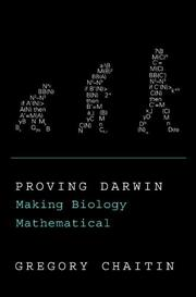 Cover art for PROVING DARWIN