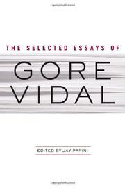 Cover art for THE COLLECTED ESSAYS OF GORE VIDAL