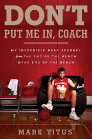 Book Cover for DON'T PUT ME IN, COACH