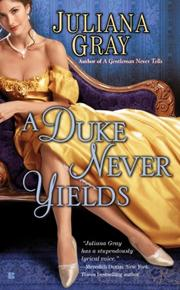 Book Cover for A DUKE NEVER YIELDS