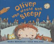 Cover art for OLIVER WHO WOULD NOT SLEEP!
