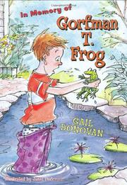 Cover art for IN MEMORY OF GORFMAN T. FROG