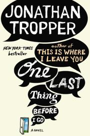 Book Cover for ONE LAST THING BEFORE I GO