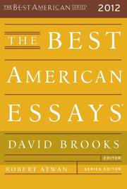 Cover art for THE BEST AMERICAN ESSAYS 2012