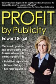 PROFIT BY PUBLICITY by Edward Segal
