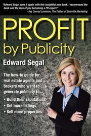 PROFIT BY PUBLICITY by Edward Segal