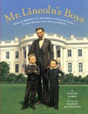 Cover art for MR. LINCOLN'S BOYS