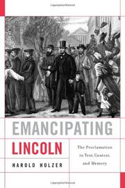 Cover art for EMANCIPATING LINCOLN