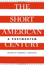 Cover art for THE SHORT AMERICAN CENTURY