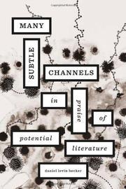MANY SUBTLE CHANNELS by Daniel Levin Becker