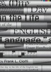 ONE DAY IN THE LIFE OF THE ENGLISH LANGUAGE by Frank L. Cioffi