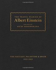 THE TRAVEL DIARIES OF ALBERT EINSTEIN by Albert Einstein