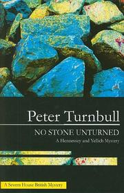NO STONE UNTURNED by Peter Turnbull