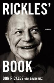 RICKLES' BOOK by Don Rickles