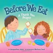Book Cover for BEFORE WE EAT