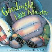 Cover art for GOODNIGHT, LITTLE MONSTER