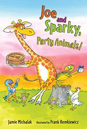 JOE AND SPARKY, PARTY ANIMALS!  by Jamie Michalak