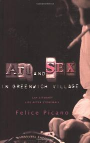 ART AND SEX IN GREENWICH VILLAGE by Felice Picano