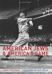 AMERICAN JEWS AND AMERICA'S GAME by Larry Ruttman