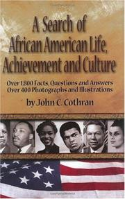 Cover art for A SEARCH OF AFRICAN AMERICAN LIFE, ACHIEVEMENT, AND CULTURE