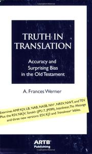 TRUTH IN TRANSLATION by A. Frances Werner