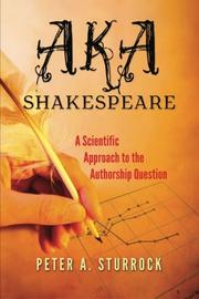 AKA Shakespeare by Peter A. Sturrock
