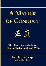 A MATTER OF CONDUCT Cover