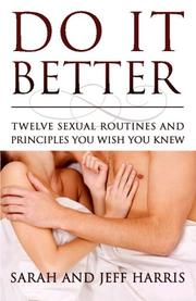DO IT BETTER by Sarah Harris