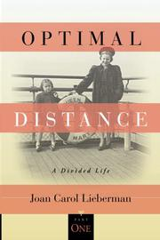 OPTIMAL DISTANCE by Joan Carol Lieberman