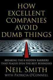 Book Cover for HOW EXCELLENT COMPANIES AVOID DUMB THINGS