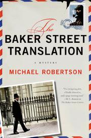 Book Cover for THE BAKER STREET TRANSLATION