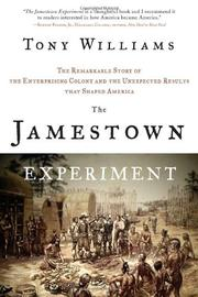 THE JAMESTOWN EXPERIMENT by Tony Williams